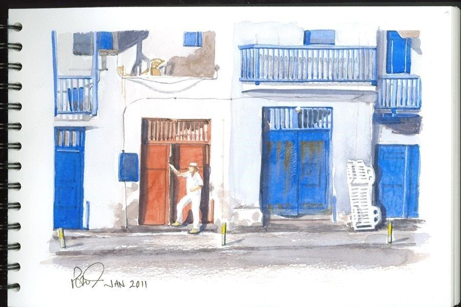 Greek Red Door