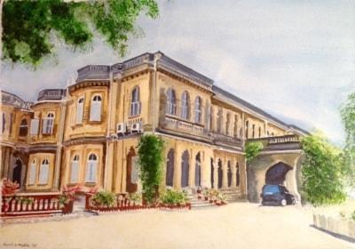 Hawa Mahal Palace - front view, Gondal, Gujerat, India