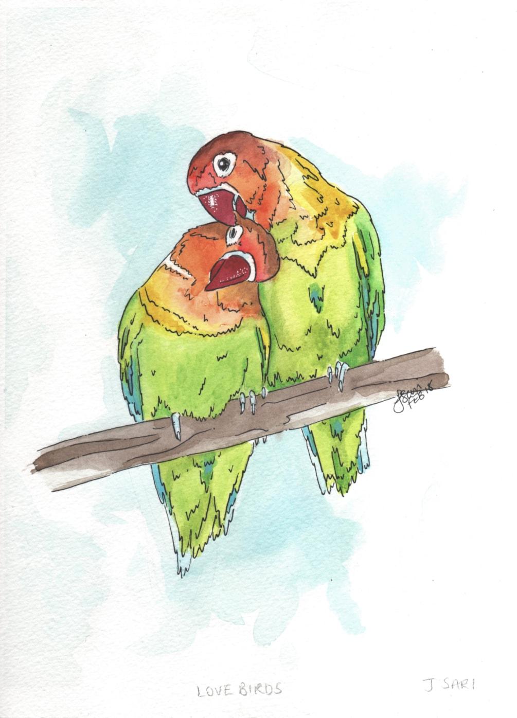 LoveBirds - Watercolour 2018