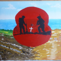 Remember Past, Present and Future generations. acrylic 20 in x 16in canvas board