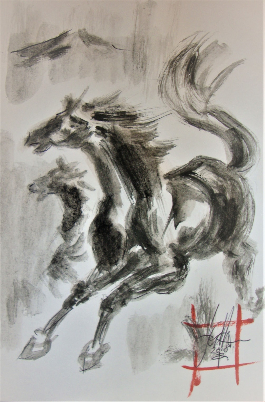 A Black Horse...