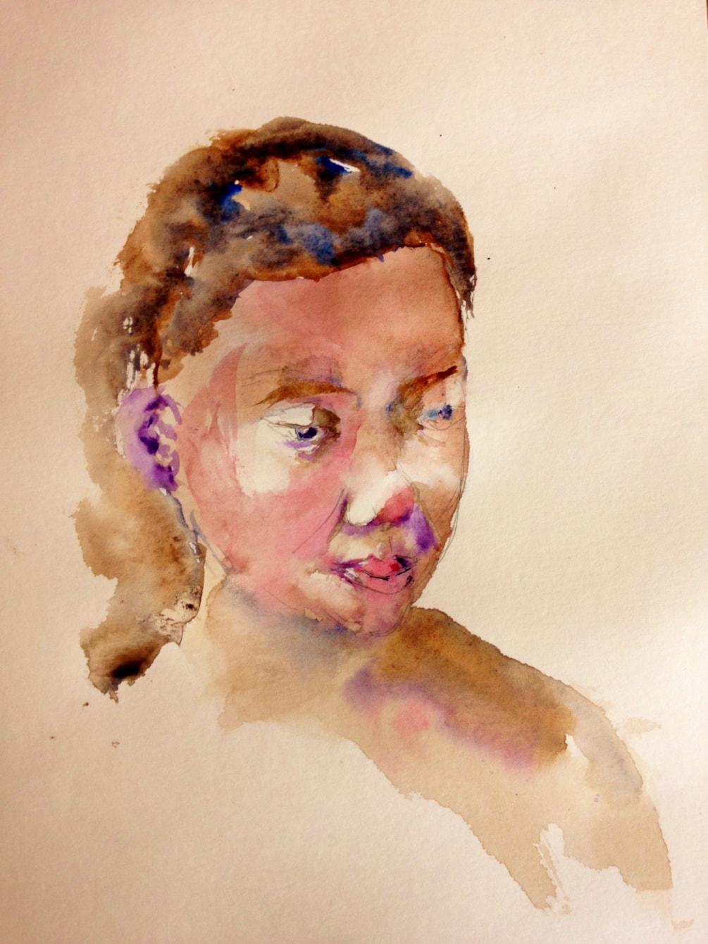 Portrait exercise (15 min. sketch)
