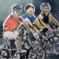 Three men on bikes!