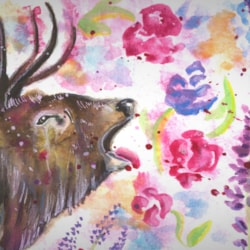 Stag in spring