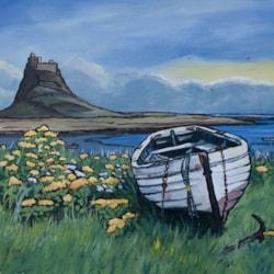 White Boat on Lindisfarne