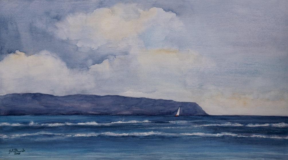 Sailing off Inishowen Head
