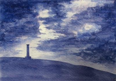 Moonlight over Peel Tower