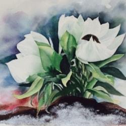 white snow flower,