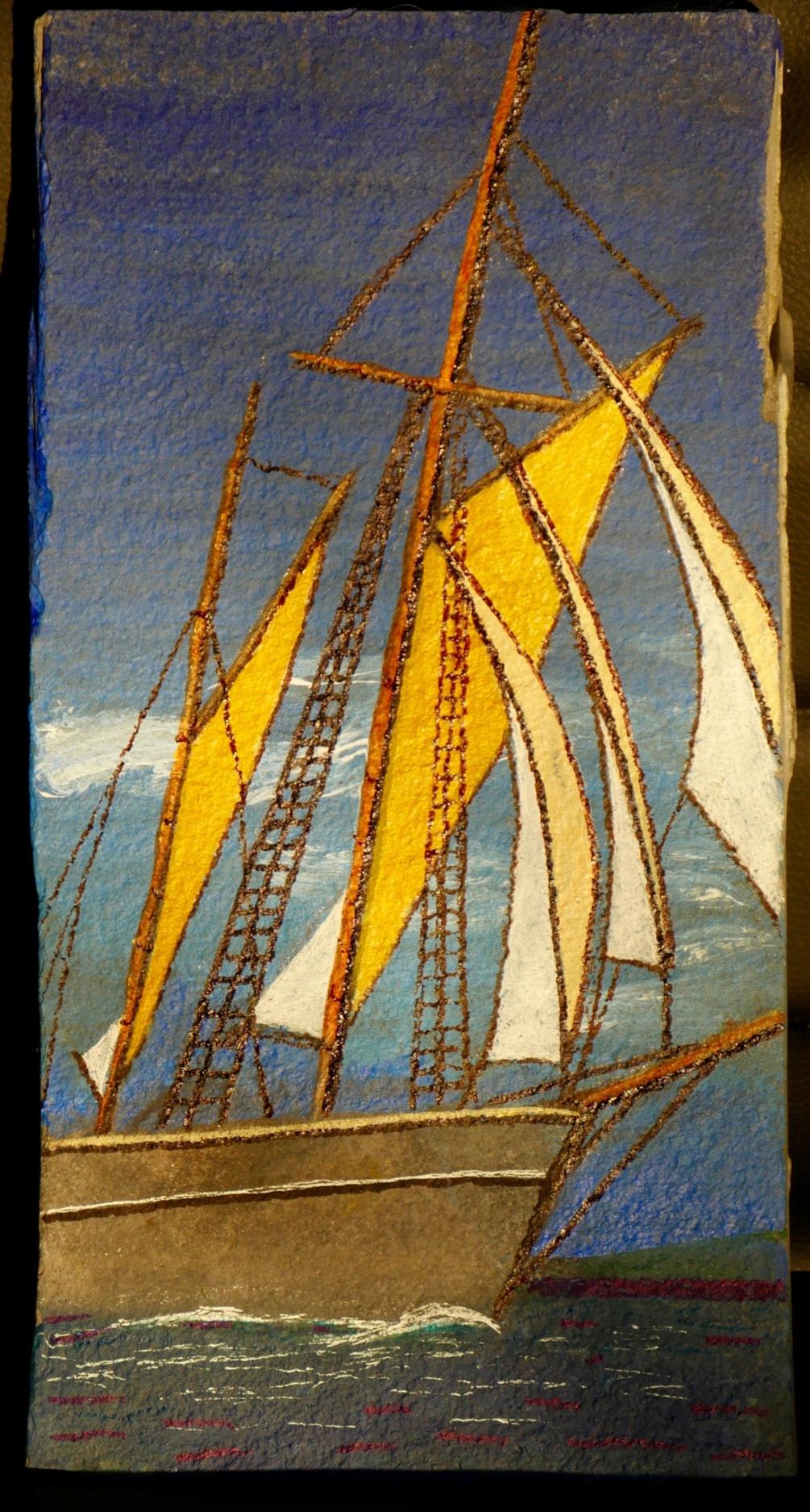 Boat on Slate