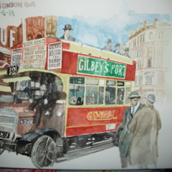Old B Type London Bus