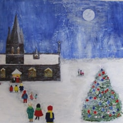 The little church at Christmas