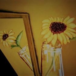 Sunflower reflection