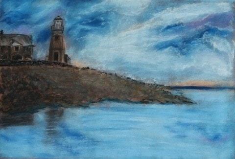 Portpatrick Lighthouse at Dusk