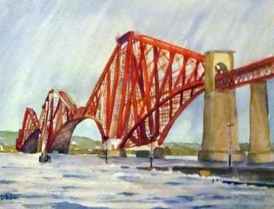 Forth Rail Bridge in rain