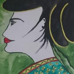 Ghisha in green