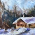 "January Forum Challenge (alias ""another darn log cabin""!)"