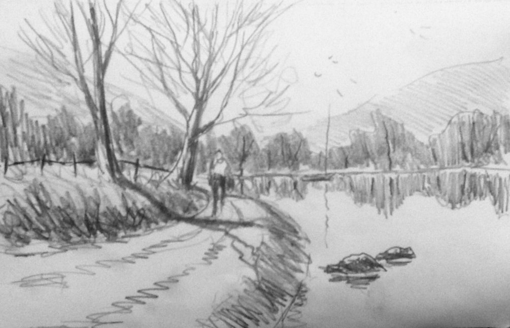 Pencil Sketch, Gentle reflections.
