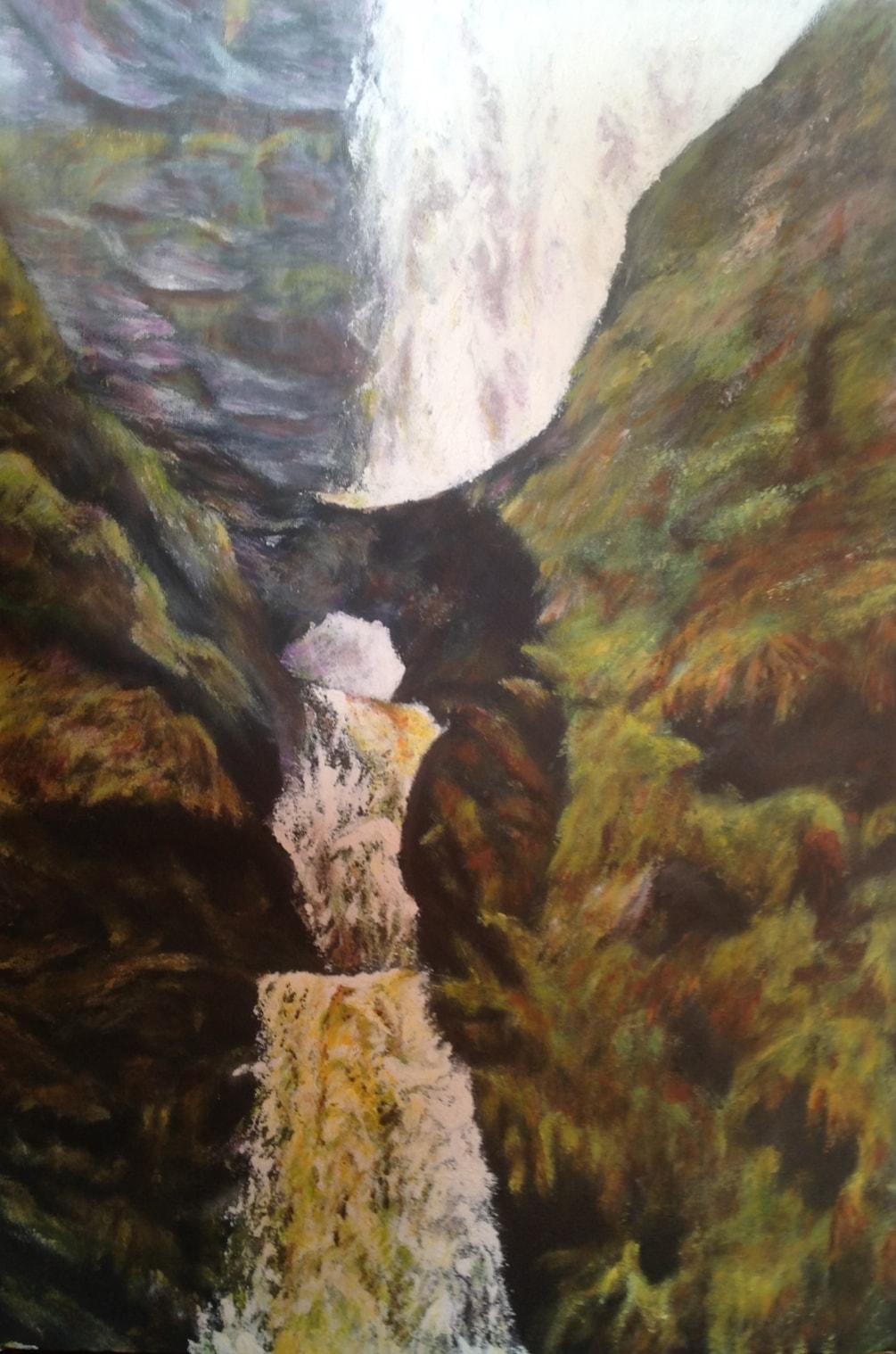 LLanrhaeadr Falls 2: Through the Bridge