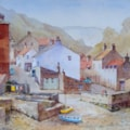 Staithes from footbridge