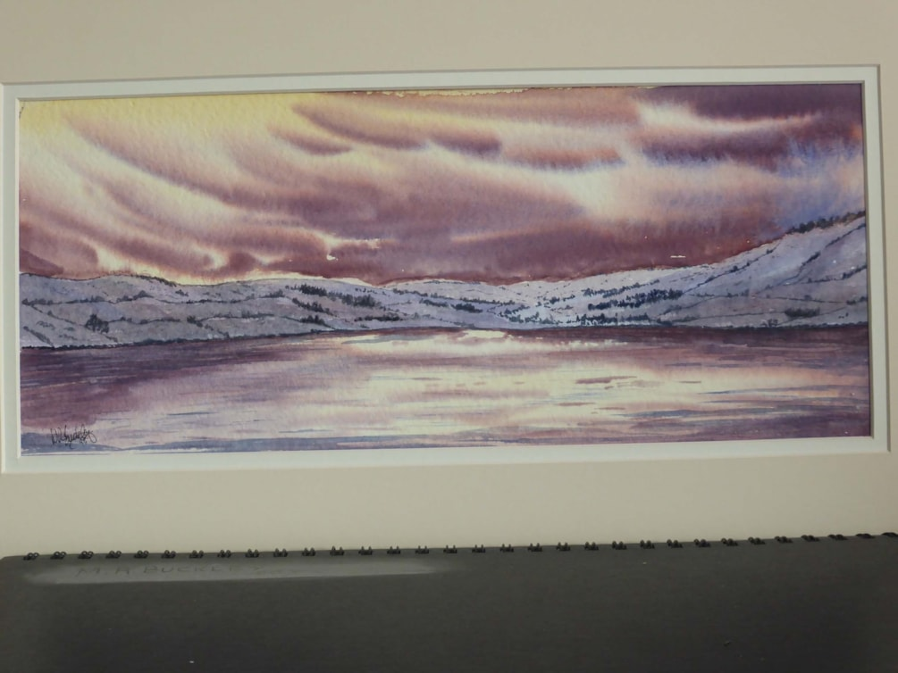 """Wet Sledale. watercolour 6.5x15"""""""
