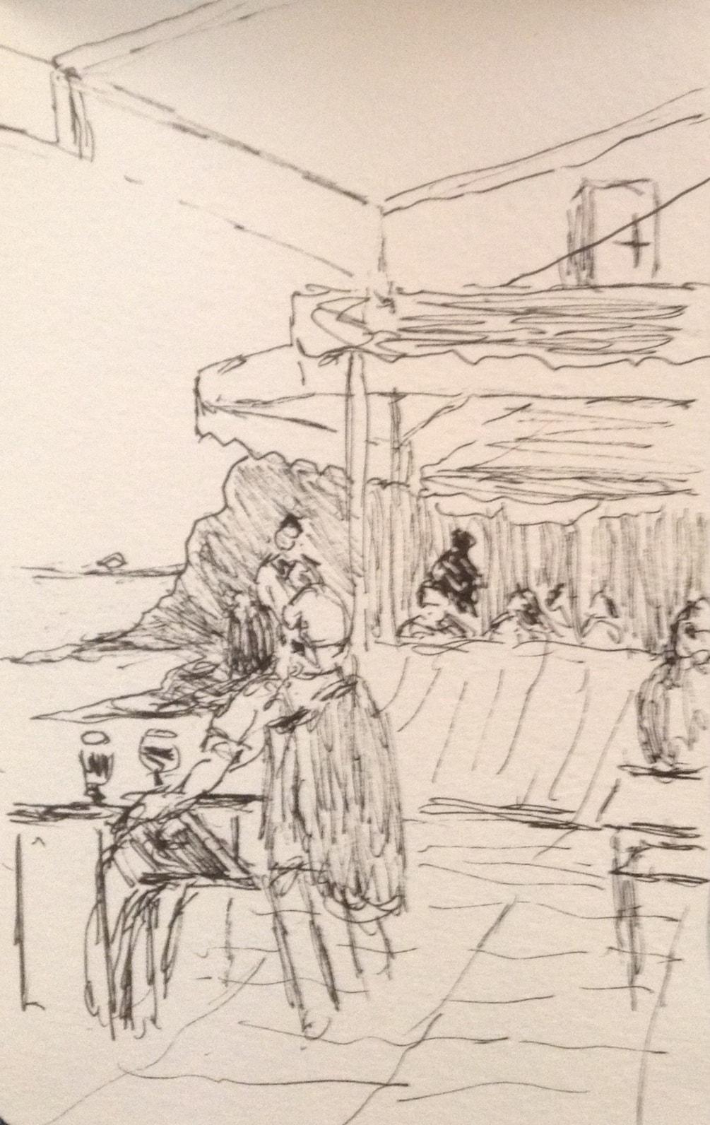 In a shady cafe, Fourteventura.