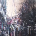 Southbank Nocturne, watercolour on Millford paper