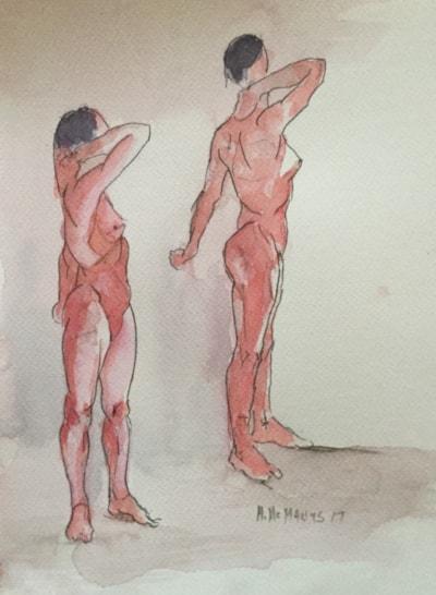 A study of Madame McManus exercising