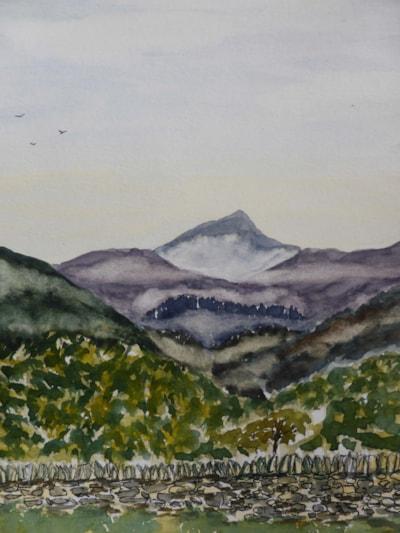 view to Moel Hebod