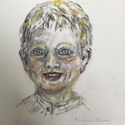 Portrait of my grandson aged 2
