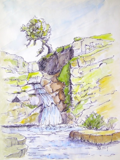 Quick sketch - Waterfall