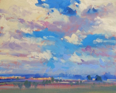 July Challenge – Summer Skyscape#8.  View from a Patio.