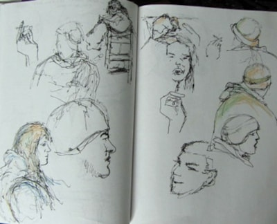 Sketches on a cold day
