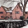 Suffolk LongHouse In Winter - Rear Elevation