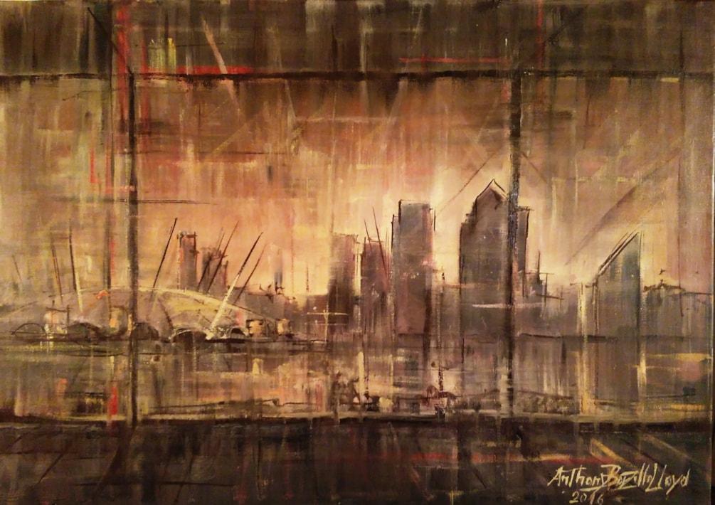 Docklands, sunset. London