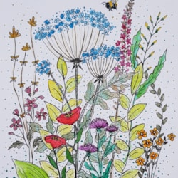 The wildflowers and the bee.
