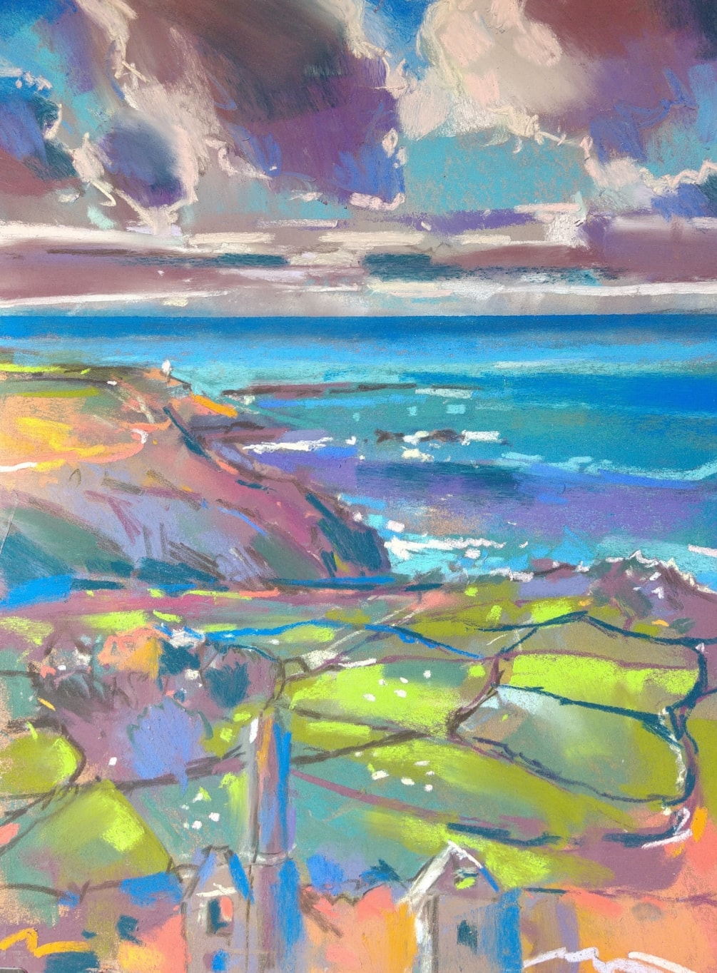 Plein air study from the Carns