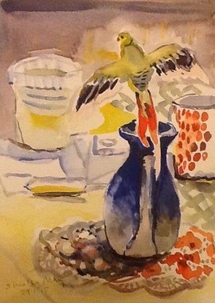 Parrot and Jug