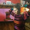 Self-portrait with Lila