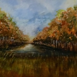 Autumn Trees and reed bed