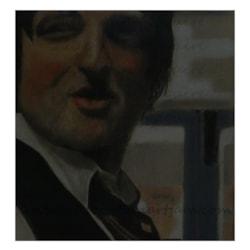 Greg - PhD Research Physicist (32cm x 30cm) - Derwent Pastel Pencils on Cream Pastel Board