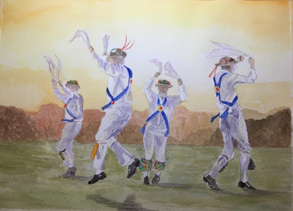 Morris dancing for Martin
