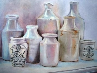 Stone jars and bottles