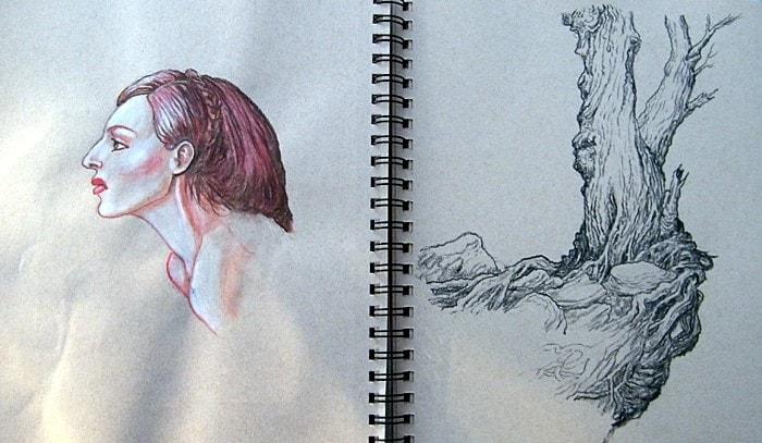 Sketchbook - girl-tree.