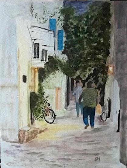 Pereza back street, Greece