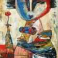 Lady from nowhere oil painting Bogomolnik