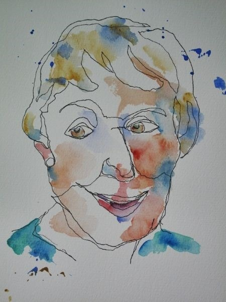 Selfie No 2 - Contour Drawing/No Peeking At Paper