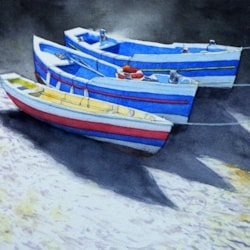 Three Boats At Staithes