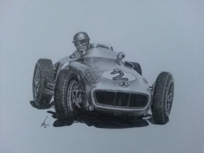 Fangio at Rascasse, Monte Carlo.