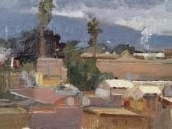 Roof tops of marrakech. My first ever painting to get hung at NEAC last year