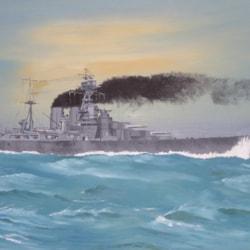 HMS Hood - full ahead